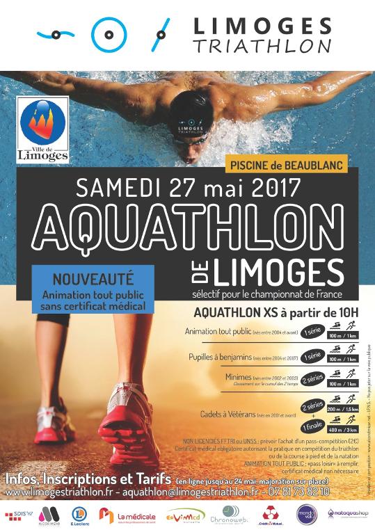 Affiche aquathlon 2017 bandeau blanc